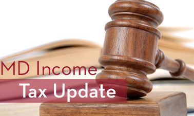 Maryland Income Tax UpdateDecember Webinar